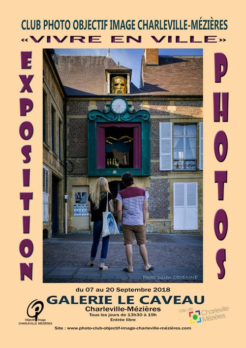 affiche expo caveau Vivre en ville 2018