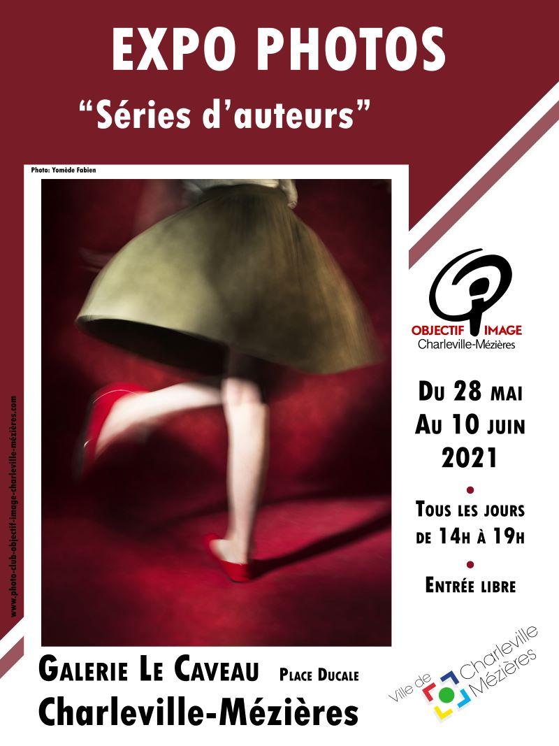 affiche expo Séries d`Auteurs` 2021
