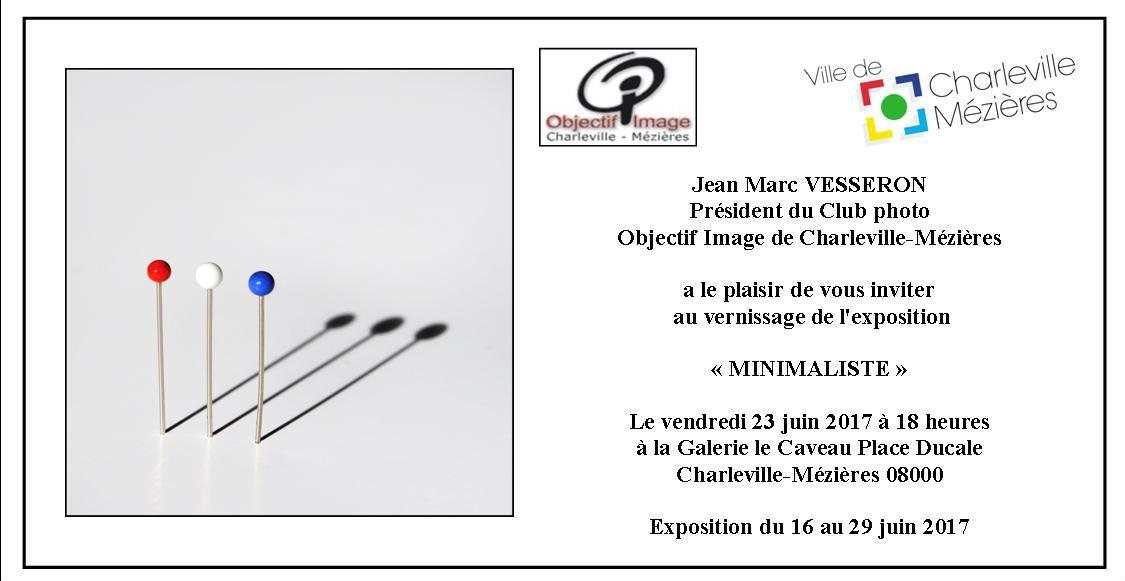 invitation expo minimaliste caveau