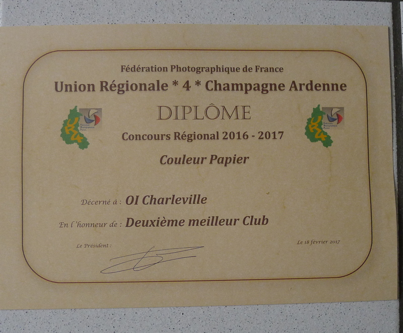 diplôme club régional 2017